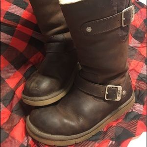 UGG LEATHER BOOTS SIZE 6 WINTER IS COMING